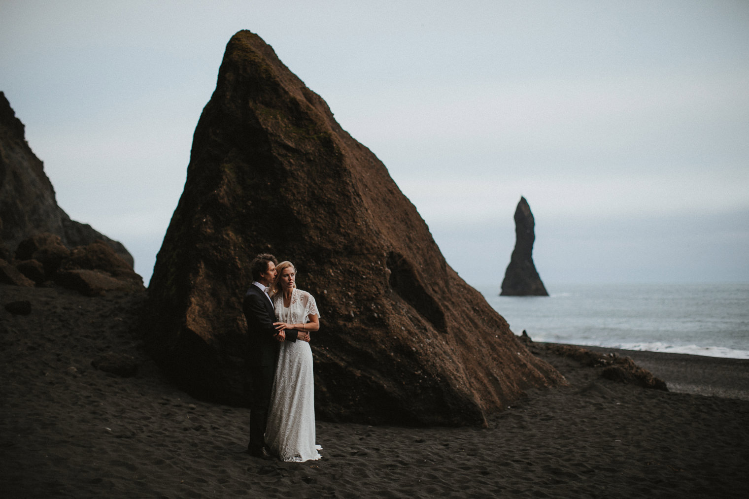 Black sands wedding
