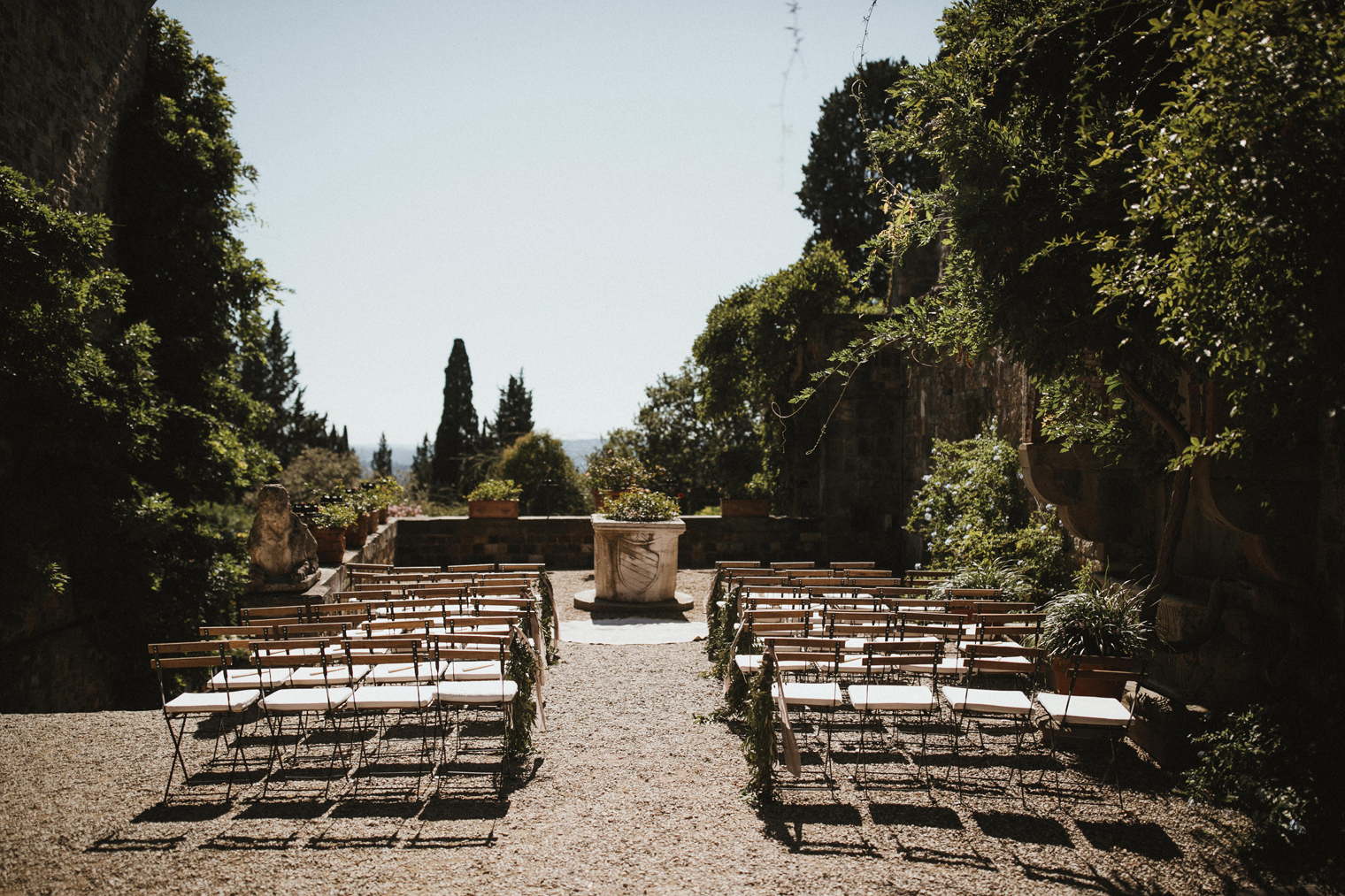 Ceremony venue at Castello Di Vincigliata, Fiesole, Tuscany