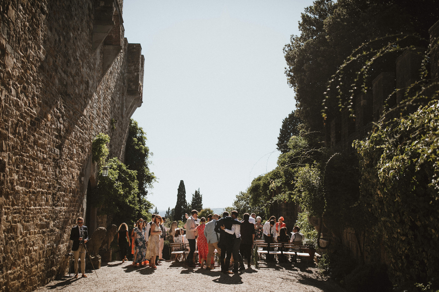 Tuscan Castle Wedding ceremony location