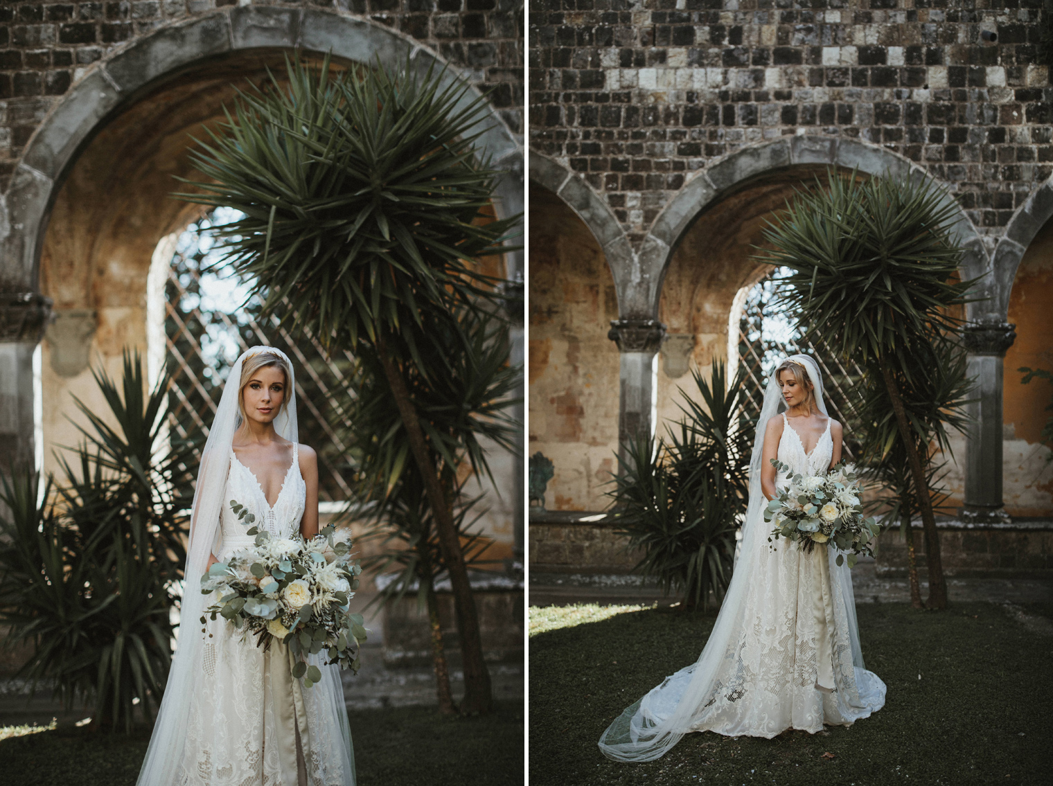 Beautiful bride wearing Flora Bridal wedding dress at Castello Di Vincigliata