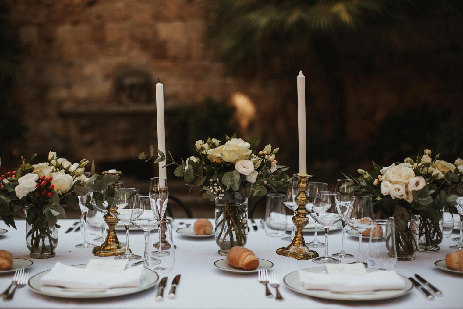 Dinner reception in Italy