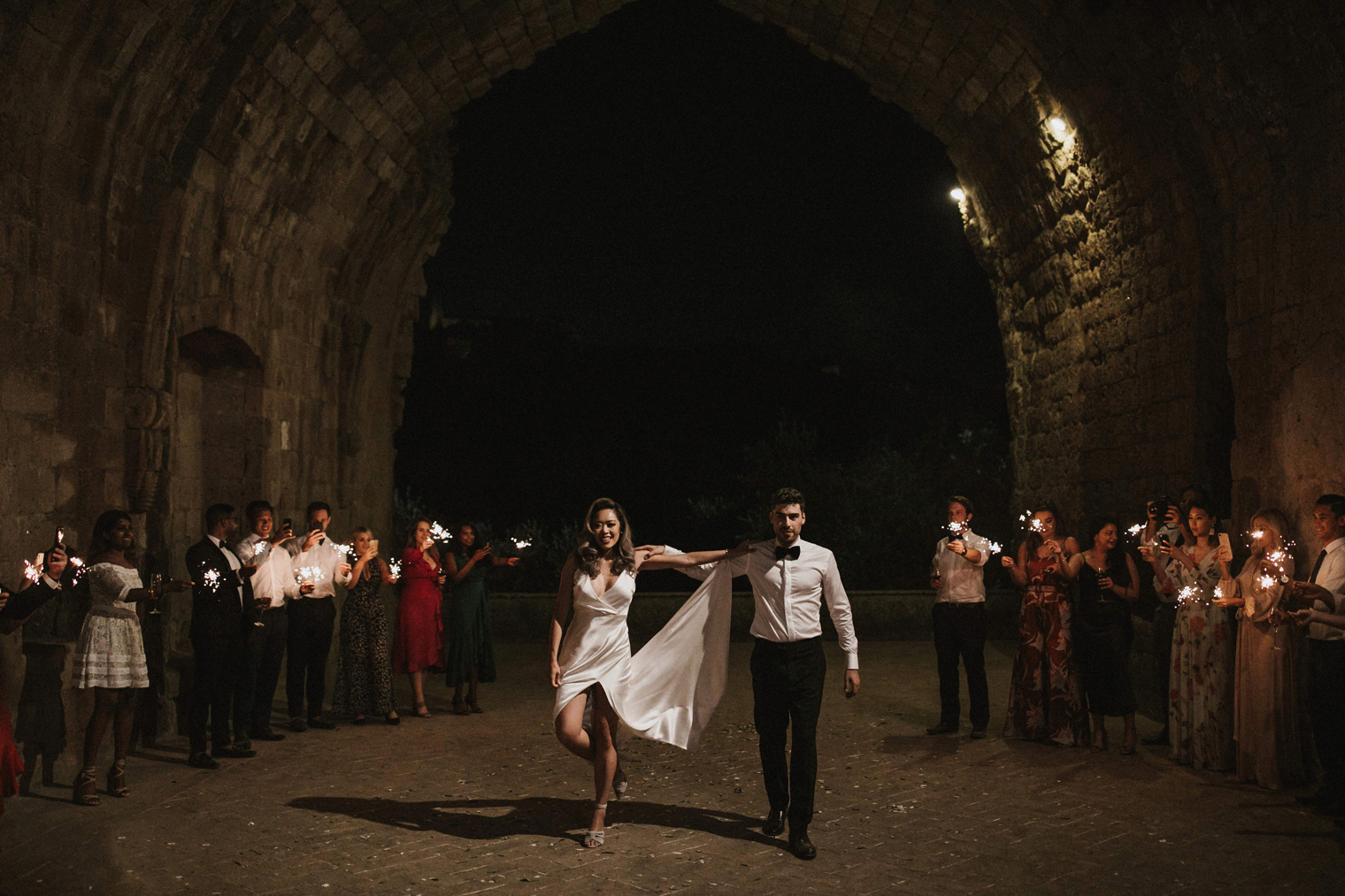 Bride and groom dance to The Zorba during first dance