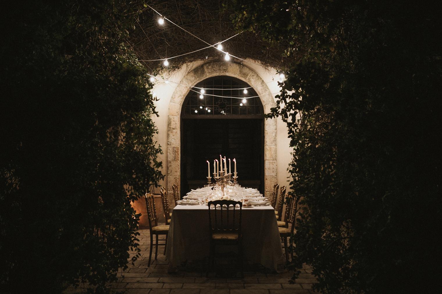 Wedding dinner at Castello Di Caprarica
